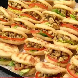 Batbout poulet & poulet ou kefta et légumes