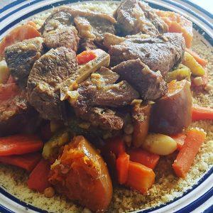 Couscous traditionnel aux légumes de saison et agneau