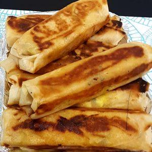 Roulé de kefta ou poulet à la pomme de terre et fromage